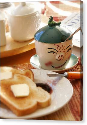 Sunday Morning Jelly Jar Canvas Print by Peter Tellone