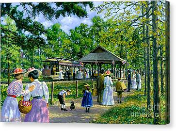 Sunday Picnic Canvas Print by Michael Swanson