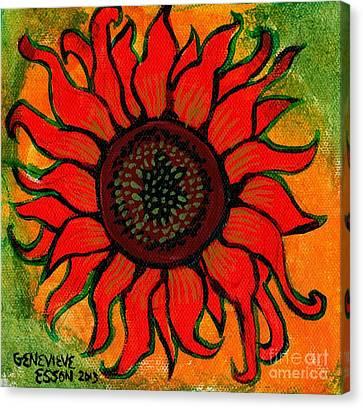 Sunflower 2 Canvas Print by Genevieve Esson