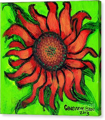 Sunflower 3 Canvas Print by Genevieve Esson