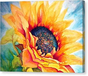 Sunflower Joy Canvas Print by Janine Riley