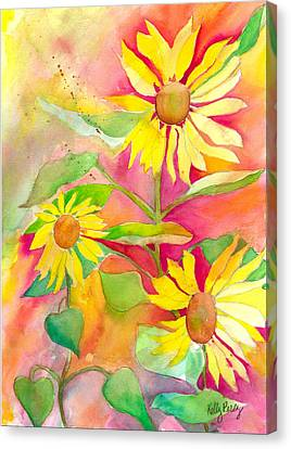 Sunflower Canvas Print by Kelly Perez