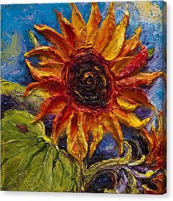 Sunflower Canvas Print by Paris Wyatt Llanso