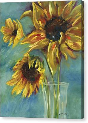 Sunflowers Canvas Print by Chris Brandley