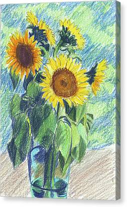 Sunflowers Canvas Print by Mary Helmreich