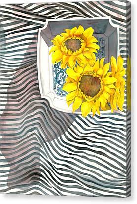 Sunflowers Canvas Print by Sayyidah Seema Zaidee