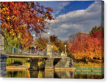 Sunkissed Lagoon Bridge Canvas Print by Joann Vitali