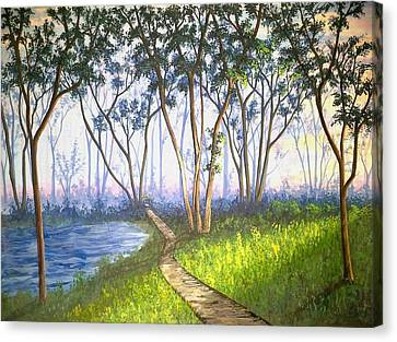 Sunny Afternoon In The Forest Canvas Print by Santanu Das