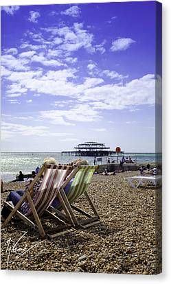 Sunny Brighton Canvas Print by Max CALLENDER