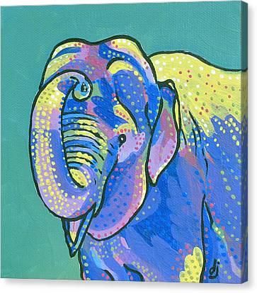Sunny Elephant Canvas Print by Dorothy Jenson