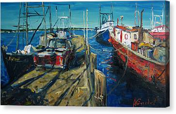 Sunny Pier Canvas Print by Alexei Biryukoff