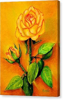 Sunny Rose Canvas Print by Zina Stromberg