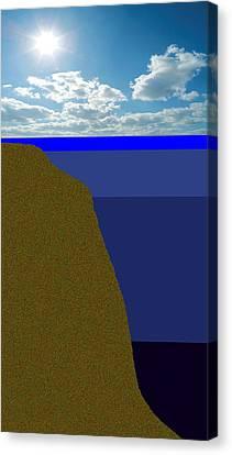 Sunny Sky Over Dead Oceans 2 Canvas Print by Bruce Iorio