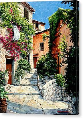 Sunny Walkway Canvas Print by Michael Swanson
