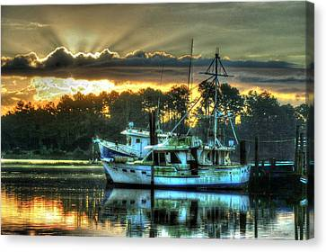 Sunrise At Billy's Canvas Print by Michael Thomas