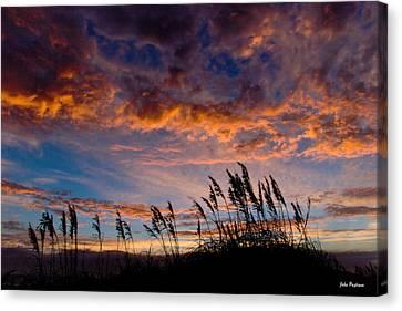 Sunrise At Hatteras Canvas Print by John Pagliuca