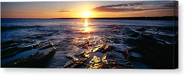 Sunrise At Lake Superior, Porcupine Canvas Print by Panoramic Images