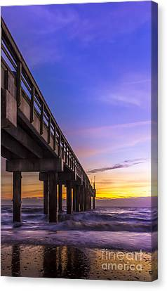 Sunrise At The Pier Canvas Print by Marvin Spates