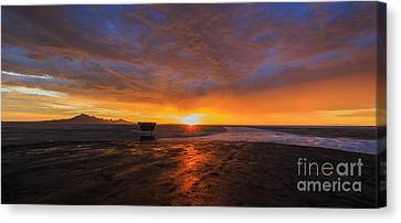 Sunrise- Bonneville Salt Flats II Canvas Print by Holly Martin