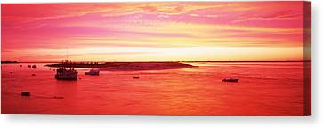 Sunrise Chatham Harbor Cape Cod Ma Usa Canvas Print by Panoramic Images