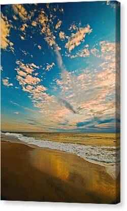 Sunrise Coming At The Shore. Canvas Print by Bill Jonscher