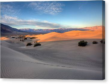 Sunrise Dunes Canvas Print by Peter Tellone