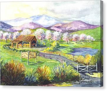 Sunrise Farm Stand Canvas Print by Carol Wisniewski