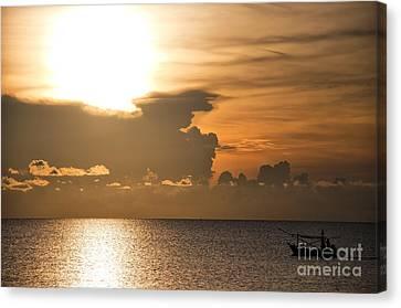 Sunrise Fisherman 01 Canvas Print by Antony McAulay