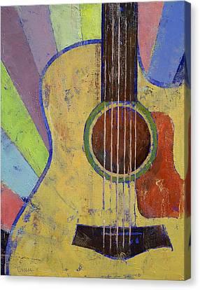 Sunrise Guitar Canvas Print by Michael Creese