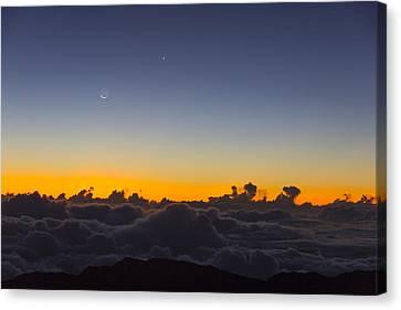 Sunrise Haleakala Volcano Canvas Print by Norman Blume