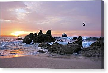 Sunrise In Cabo San Lucas Canvas Print by Marcia Colelli