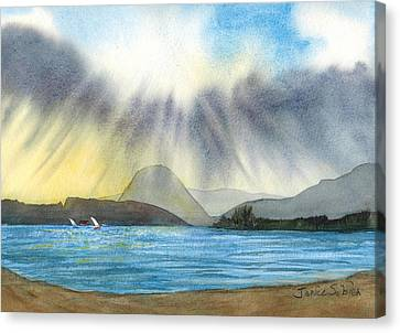 Sunrise In Los Osos Canvas Print by Janice Sobien