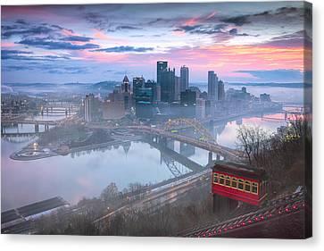Pittsburgh Fall Day Canvas Print by Emmanuel Panagiotakis