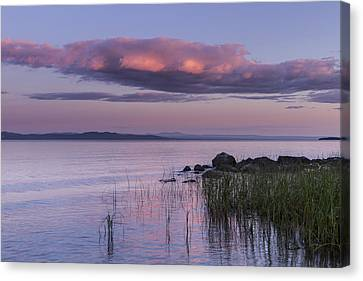 Sunrise Lake Champlain Shore Vermont Clouds Canvas Print by Andy Gimino