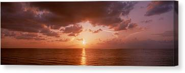 Sunrise Miami Fl Usa Canvas Print by Panoramic Images