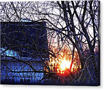 Sunrise Next Door Canvas Print by Sarah Loft