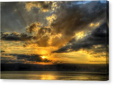 Sunrise On The Sea Of Galilee Canvas Print by Ken Smith