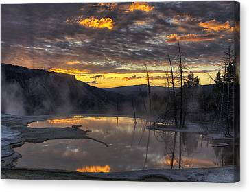 Sunrise On The Terrace Canvas Print by Mark Kiver