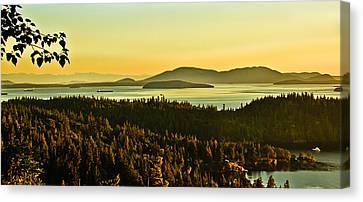 Sunrise Over Bellingham Bay Canvas Print by Robert Bales