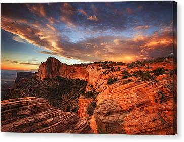 Sunrise Over Canyonlands Canvas Print by Darren  White