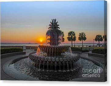 Sunrise Over Charleston Canvas Print by Dale Powell