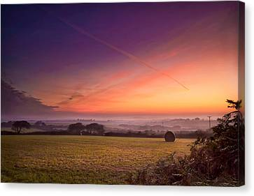 Sunrise Over Cornwall Canvas Print by Christine Smart