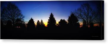 Sunrise Over East Lawn Panorama Canvas Print by Thomas Woolworth
