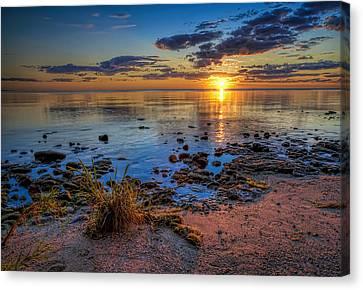 Sunrise Over Lake Michigan Canvas Print by Scott Norris