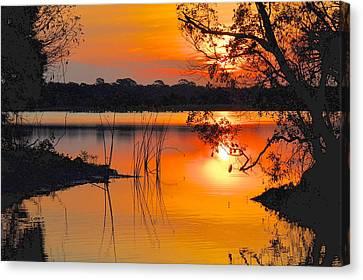 Sunrise Over Orlando Wetlands Canvas Print by AnnaJo Vahle