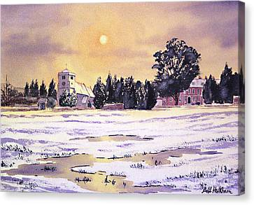 Sunrise Over St Botolph's Church Canvas Print by Bill Holkham