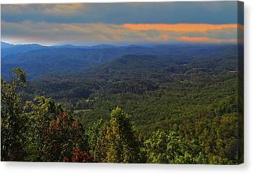 Sunrise Over The Appalachian Mountains Canvas Print by Dan Sproul