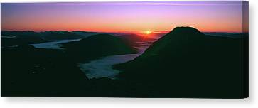 Sunrise Over The Buachaille Etive Mor Canvas Print by Panoramic Images