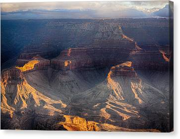 Sunrise Over The Canyon Canvas Print by Lisa  Spencer