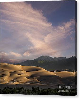 Sunrise Over The Great Sand Dunes Canvas Print by Keith Kapple